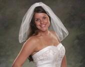 1 Layer Pencil Edge Veil Shoulder Length 20 Short Bridal Veil Diamond White Tulle Veil Light Ivory Veil Wedding Veil 1 Tier Veil