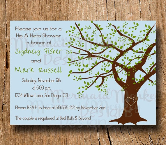 Items Similar To Couples Shower Invitation