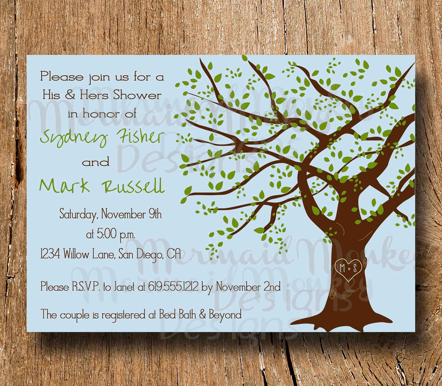 Couples Shower Invitation Wedding Shower By