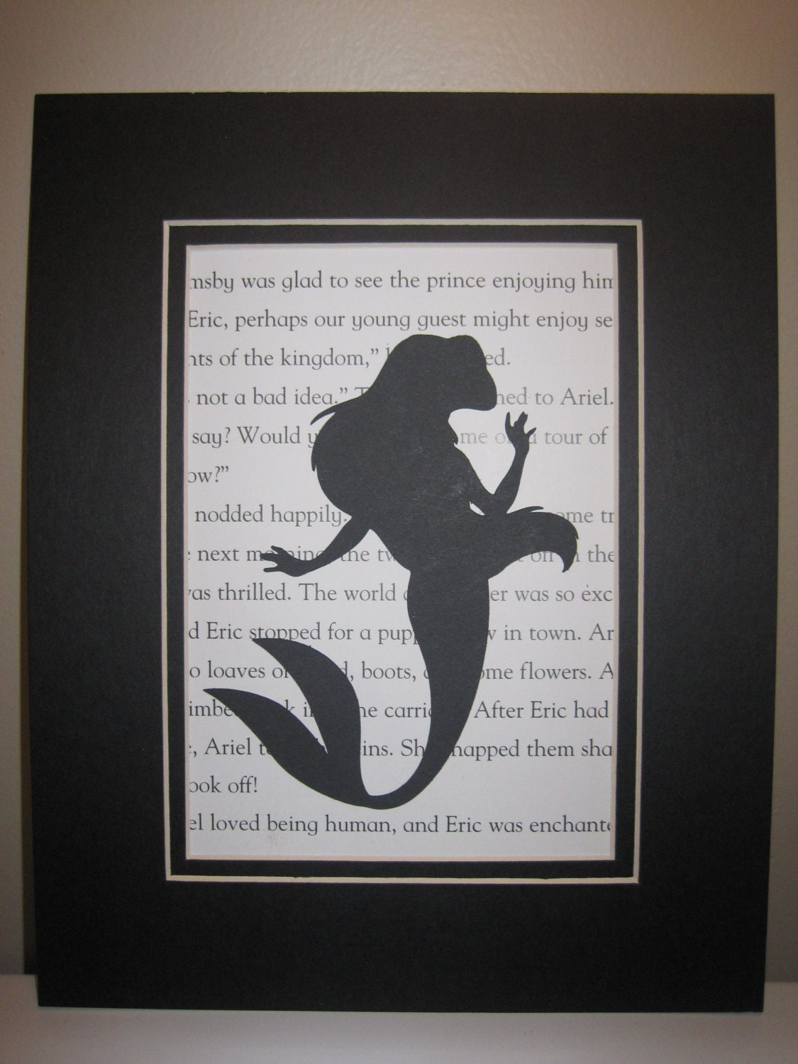 1 Ariel 5 X 7 Silhouette On Storybook Paper Black
