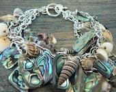 mothers day bracelet, mermaid bracelet,abalone bracelet ,seashells, resort wear, cruise wear, beach, summer, gypsy, boho, hippie ,festivals