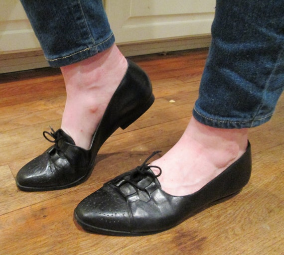 vintage black dress shoes cool unique by by shebeingbrandnew