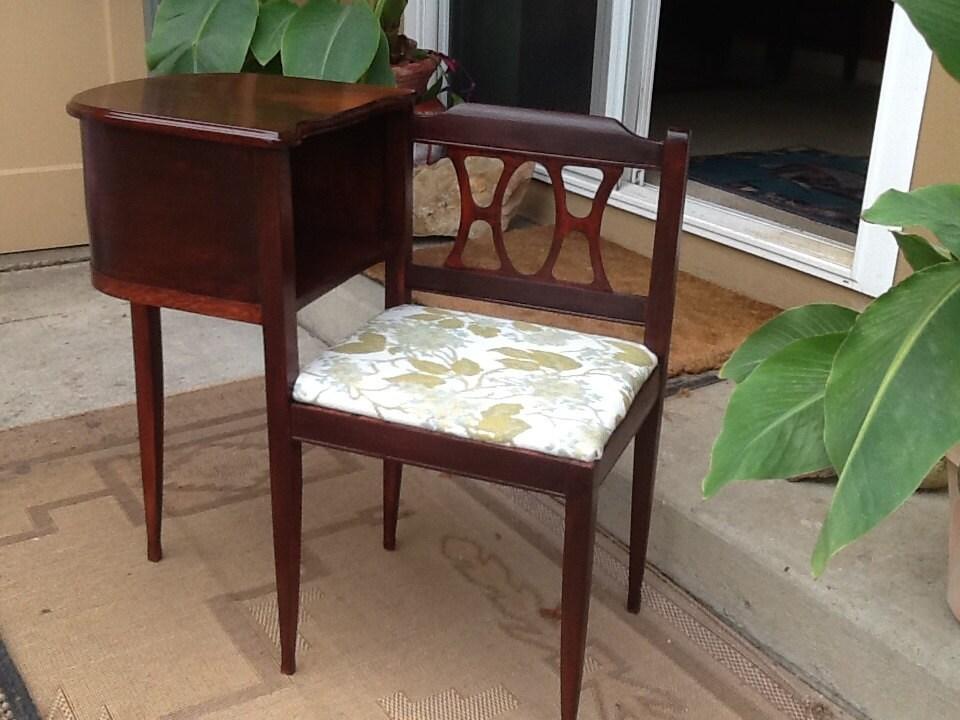 Vintage Telephone Table Desk