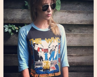 vintage who shirt/Authentic The Who/vintage  Concert shirt. The first Farewell tour. Vintage Concert t shirt. Vintage The Who