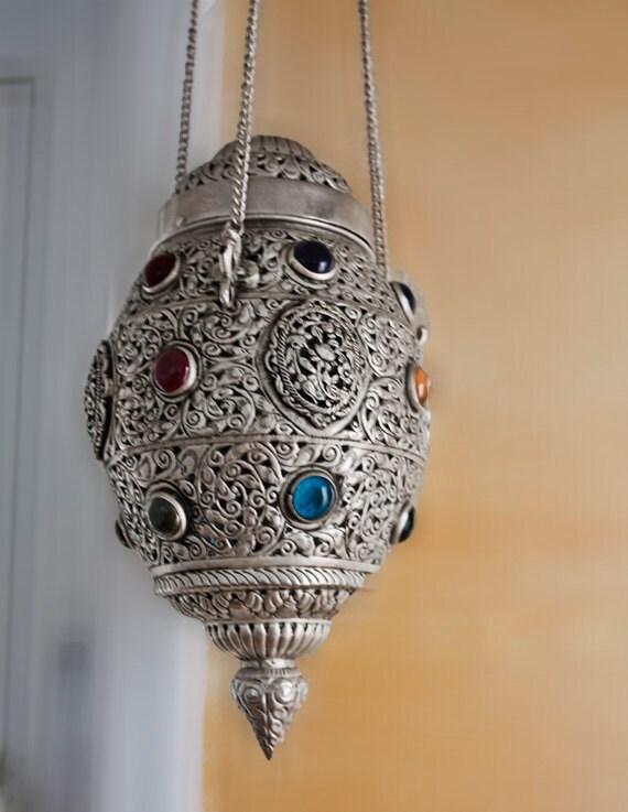 Moroccan Ceiling Light: Moroccan Ceiling Light Fixture, Vintage Moroccan Lamp, Ceiling Lighting  Fixture, Moroccan Lantern,Lighting