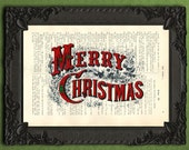 Merry Christmas text merry christmas typography print Christmas quote