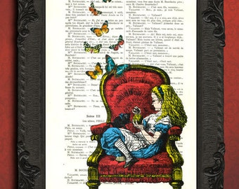 Alice in wonderland art alice in wonderland illustration alice in wonderland home decor