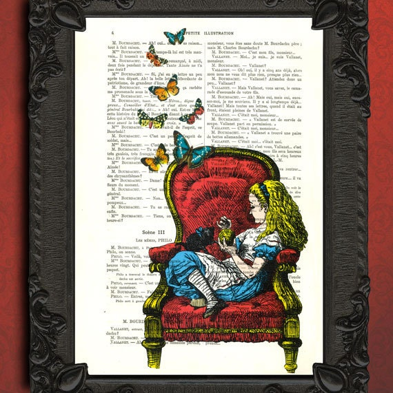 Art Alice In Wonderland Illustration Alice In Wonderland Home Decor