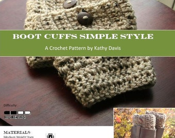 Crochet Boot Cuffs With Lace Pattern : Crochet Pattern-Lace Boot Cuffs
