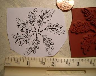 pinwheel leaf  rubber stamp un-mounted scrapbooking rubber stamping
