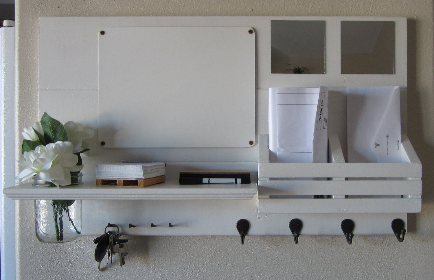 Entryway Mirror With Key Hooks | House Design