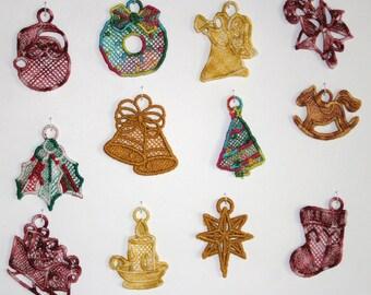 Mini Christmas FSL Earrings