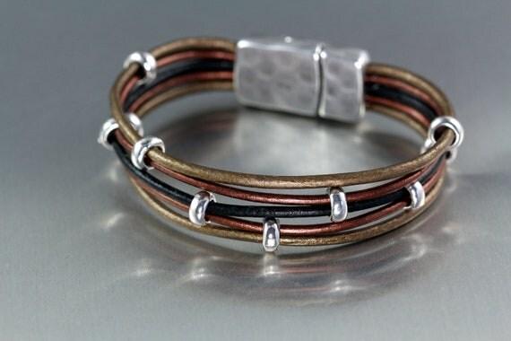 Multi-layered Leather Bracelet