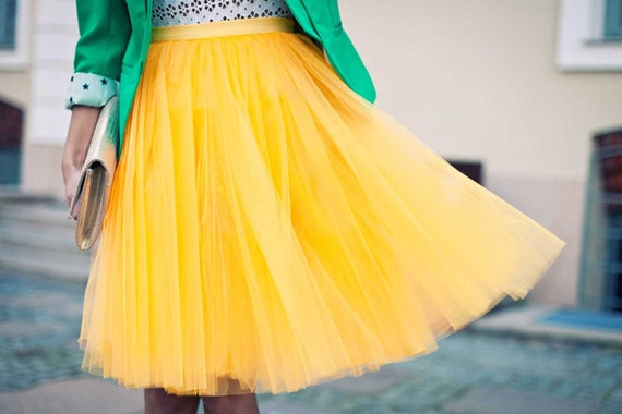 fantastic yellow tulle skirt outfit dresses