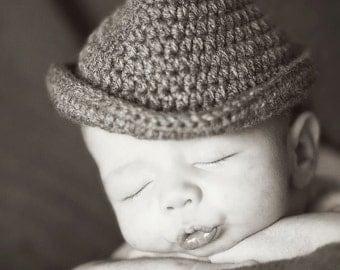 SALE!!!  Fedora Hat, Crochet Hat, Crochet Fedora Hat, Baby Fedora, Baby Hat, Crochet Baby Hat, Crochet Baby Fedora Hat, Handmade, Custom