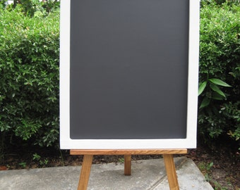 Large Chalkboard with Easel - Wedding Chalkboard - Children's Chalkboard - Shabby Chic Chalkboard