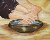 "Christian Art, Art Print, Digital Print, ""Servants Heart"""