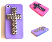 Cross Studded iPhone 4 4s Silicone Case
