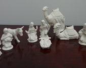 12 Piece Bisque Nativity Set