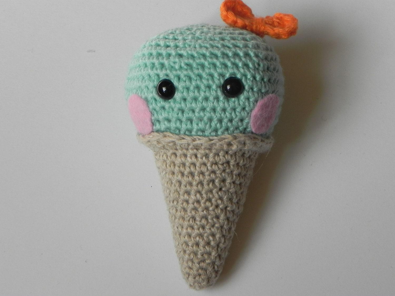 Amigurumi Ice Cream Cone : Items similar to amigurumi cute ice cream cone - crochet ...
