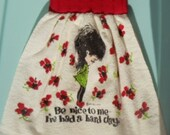 Officially Retro Hanging Kitchen Hand Towel
