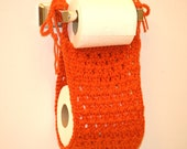 Crochet Toilet Paper Holder in Terracota color (with FREE SHIPPING)