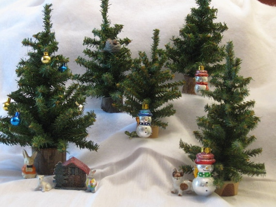 Christmas Tree Forest 5 Miniature Artificial By
