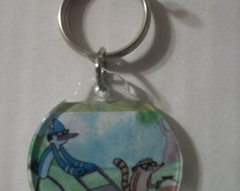 Mordecai & Rigby Keychain