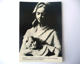 Colection of 10 Vintage Postcards of Mary with Jesus in Her Arms - Black and White /// Colored