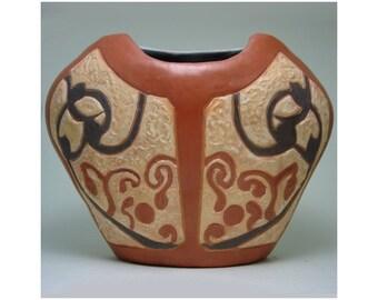 Changing Seasons: Hand-Built Earthenware Pot Terra Sigillata Slipped, Burnished, Fumed