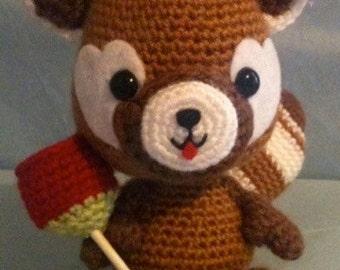 Japanese Red Panda Amigurumi Crochet Plushie
