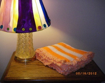 UT Orange and White Lapghan or Baby Blanket-ooak - See Shop Announcement for Coupon Code