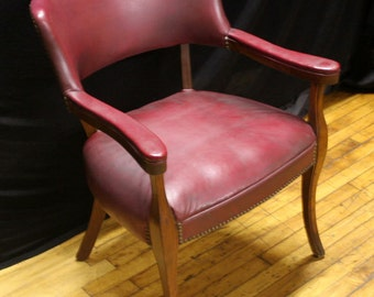 Gorgeous Maroon Burgundy Color Library Executive Armchair