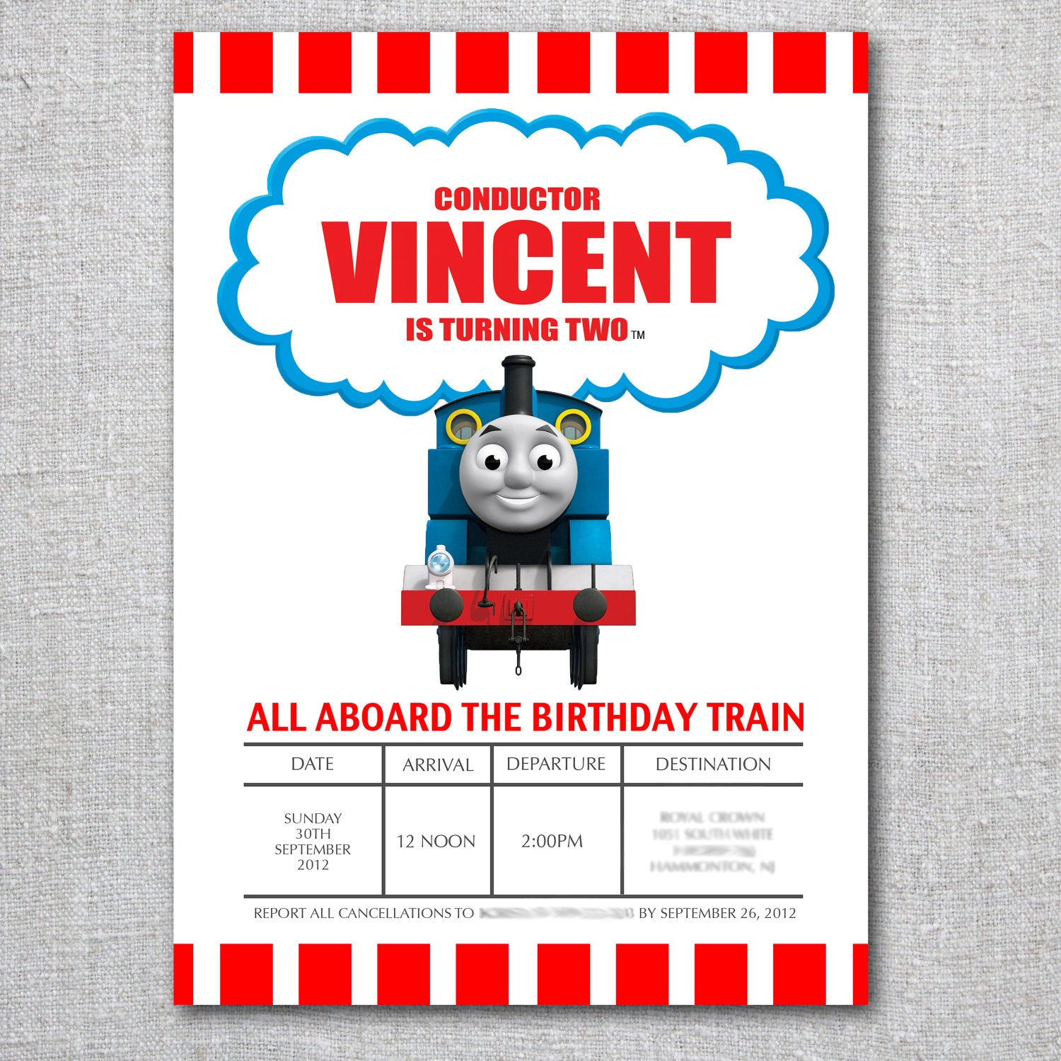 Thomas Invitations was adorable invitations ideas