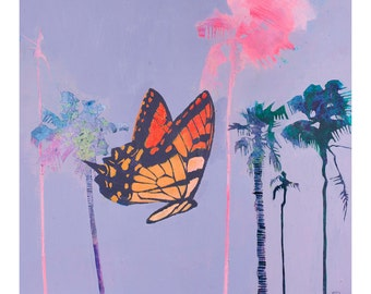 art print of original painting, Butterfly