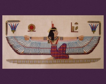 Isis, Lady of Life & Heaven! Counted Cross Stitch Instant Download Pattern Counted Embroidery Chart X Stitch Ancient Egyptian Goddess Design