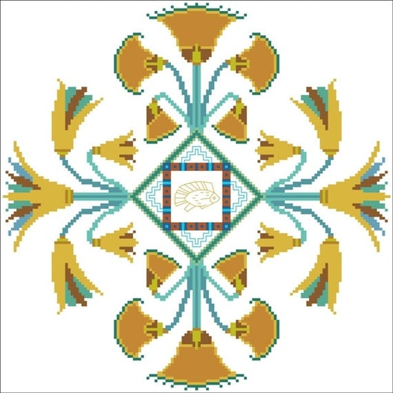Ancient egyptian cross stitch instant download pattern kmt