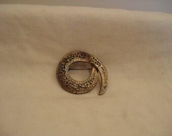 Vintage Spiral Brooch