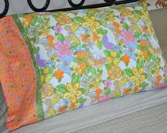 Handmade Standard Sz Pillowcases Butterflys & Flowers