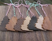 Rustic Christmas Tree Ornaments, Set Of 7. Winter, Christmas Gift. Decoration. CUSTOM ORDERS WELCOME.