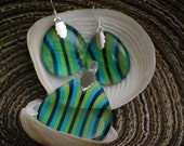 Teardrop Translucent Pendant with Earrings