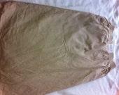 Early 90s Limited Express Khaki Denim Safari Skirt - Preppy