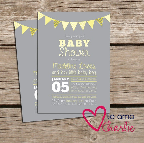 Printable Gender Neutral Baby Shower By PalmBeachPrints On