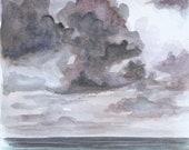 "Tempest - Original Watercolor - 8""x10"""