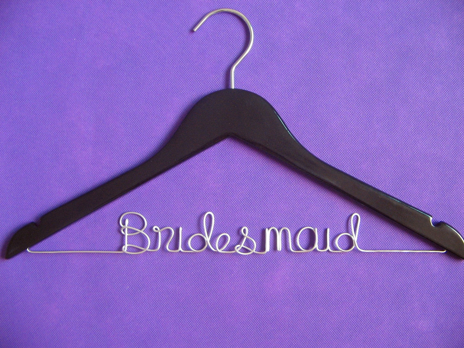 Personalized wedding dress hangerbridesmaid hanger name for Wedding dress hangers with name