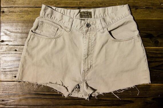 High Waisted Calvin Klein Khaki Shorts