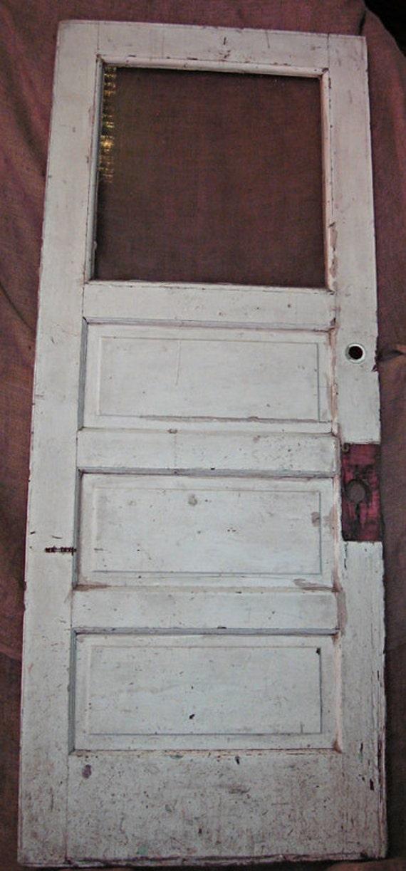 Vintage 3 Panel Door With Glass