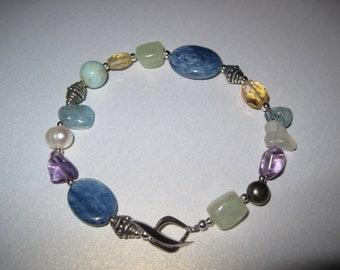 beaded multi stone bracelet