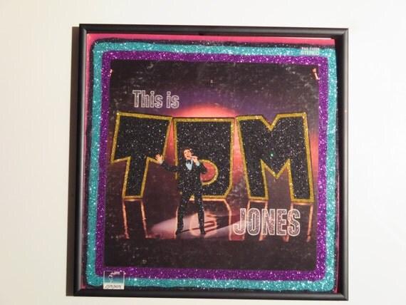 Glittered Record Album - Tom Jones - This is Tom Jones