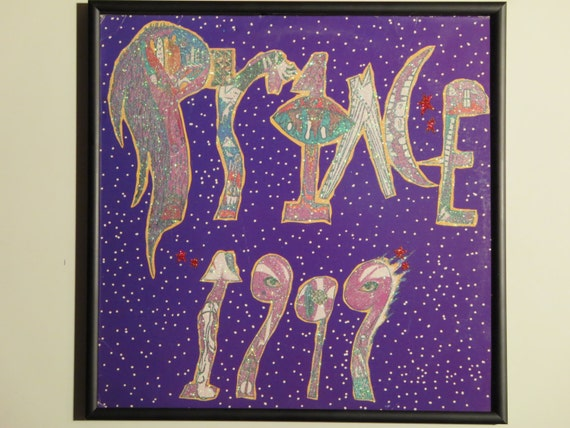 Glittered Record Album - Prince - 1999